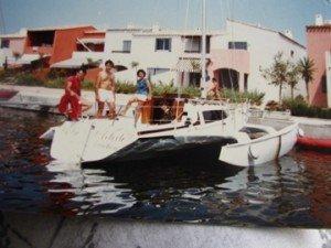 l'être et l'artiste à Agde en 1982 , année de sa mise à l'eau