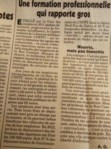 """article du """" canard enchaîné """" du 17 février"""